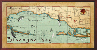 Biscayne Bay 16X32 canvas print