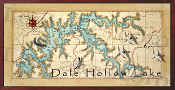 Dale Hollow Lake 16X32 canvas print