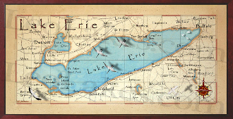 Lake Erie 16X32 canvas print