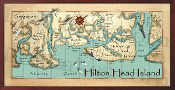 Hilton Head Island Canvas Map 10x20 print