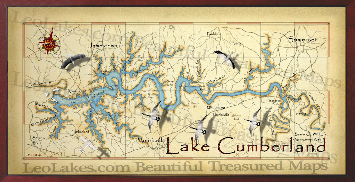 Cumberland Lake decor map