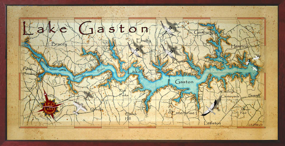 map of lake gaston Lake Gaston Decor Map map of lake gaston